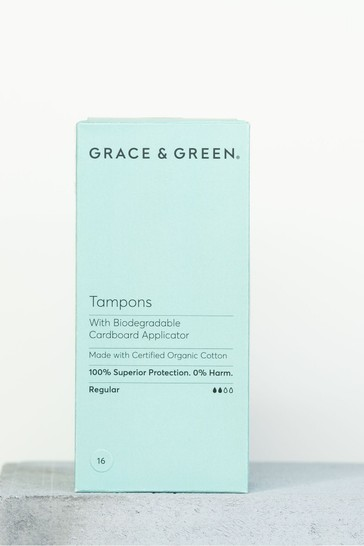 Grace & Green Organic Tampons with a Biodegradable Applicator Regular