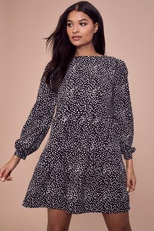 Lipsy Black Smock Dress