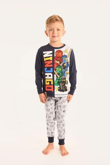 Brand Threads Blue Lego Ninjago Boys Pyjamas