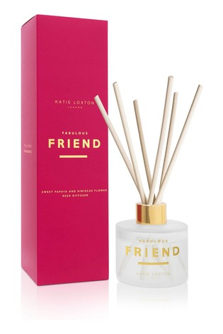 Katie Loxton Sentiment Reed Diffuser | Fabulous Friend | Sweet Papaya and Hibiscus Flower |100ml