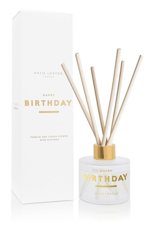 Katie Loxton Sentiment Reed Diffuser   Happy Birthday   Pomelo and Lychee Flower  100ml