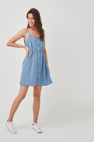 Vero Moda Light Blue Cami Denim Mini Dress