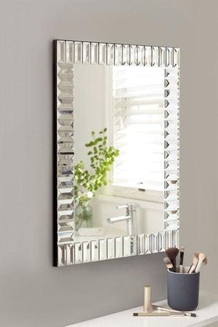 Small Deco Glass Rectangular Mirror