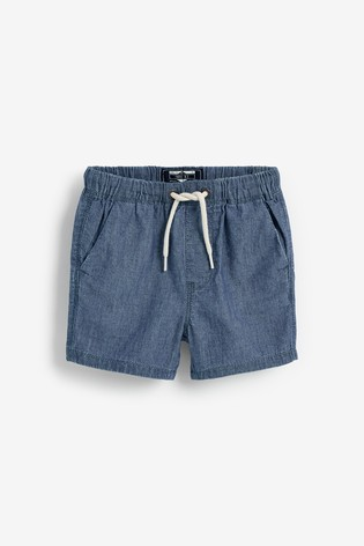 Chambray Blue Pull-On Shorts (3mths-7yrs)