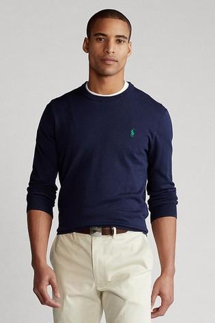 Polo Golf by Ralph Lauren Cotton Logo Long Sleeve Knit Jumper