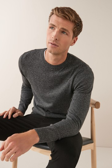 Charcoal No Stag Cotton Rich Marl Jumper