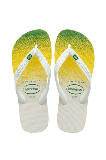Havaianas White Brasil Fresh Flip Flops