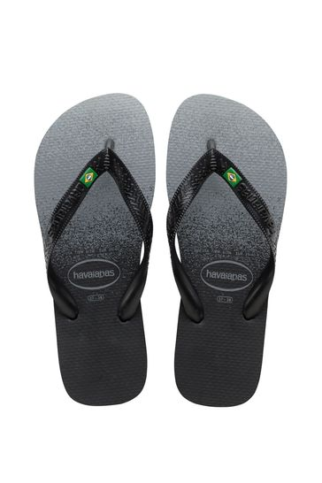 Havaianas Black Brasil Fresh Flip Flops