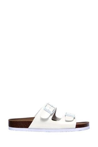 Skechers White Granola Gloss Floss Sandals