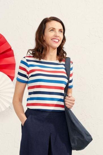 Seasalt Cornwall Blue Stripe Sailor T-Shirt