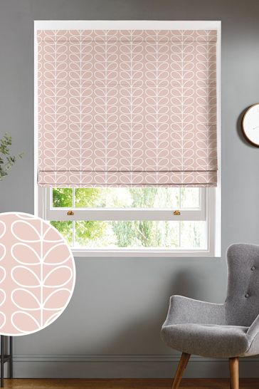 Orla Kiely Pink Linear Stem Made To Measure Roman Blind