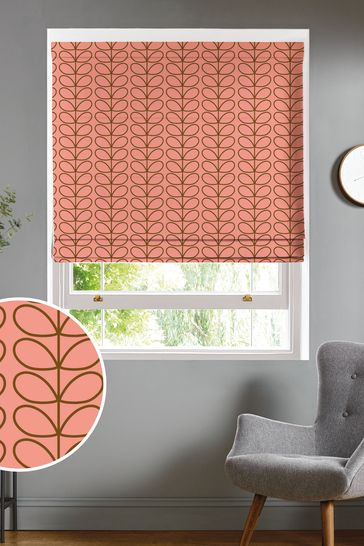 Orla Kiely Pink Linear Stem Summer Made To Measure Roman Blind