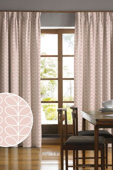 Orla Kiely Pink Linear Stem Made To Measure Curtains
