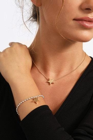 Caramel Jewellery London Star Charm Gold Friendship Necklace & Bracelet Set