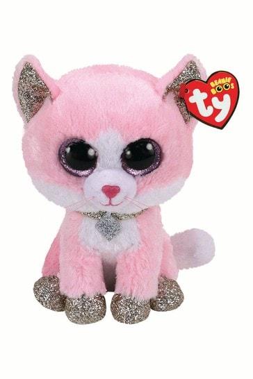 TY Fiona Glitter Cat Beanie Boo Medium 10 Inch Soft Toy