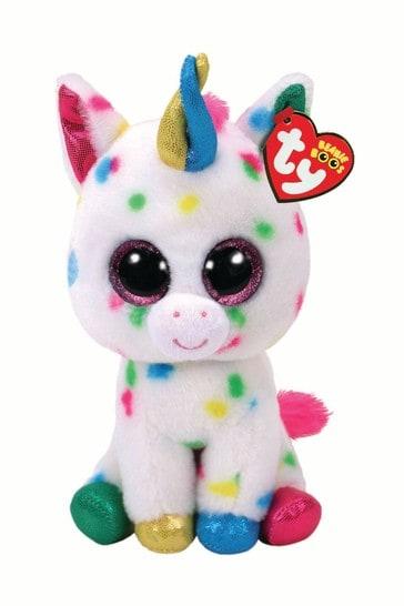 TY Harmonie Unicorn Beanie Boo Medium 10 Inch Soft Toy