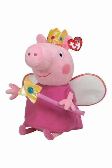 TY Peppa Pig Princess Medium 10 Inch Soft Toy