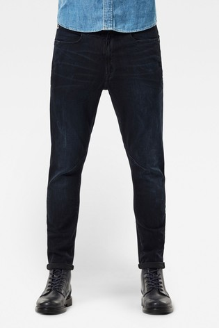 G-Star Blue D-Staq 3D Slim Rink Superstretch Jeans