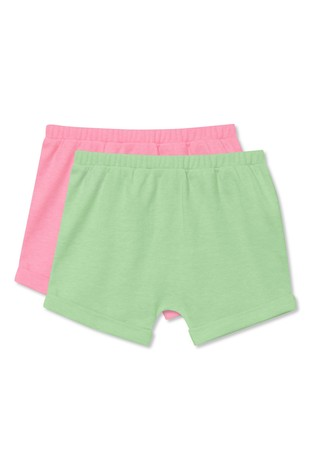 M&Co Pink Neon Shorts 2 Pack
