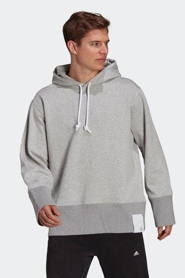 adidas Grey Sportswear Comfy and Chill Fleece Hoodie