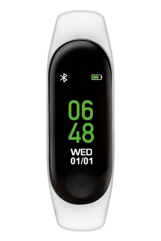 Tikkers White Activity Tracker Watch with Colour Touch Screen