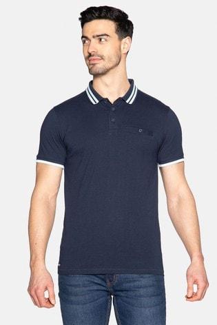 Threadbare Navy Polo T-Shirt