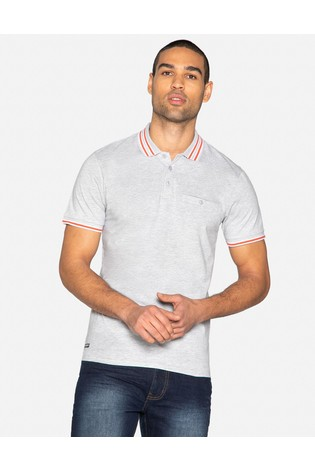 Threadbare Grey Polo T-Shirt