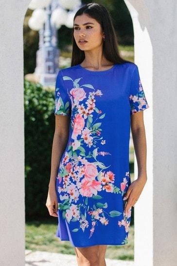 Lipsy Cobalt Floral Shift Dress