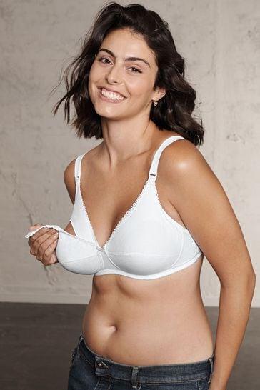 Naturana White Cotton Nursing Bra