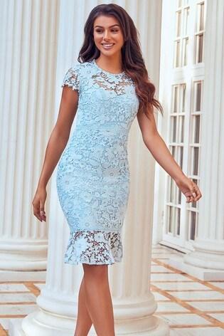 Sistaglam Blue Lace Dress