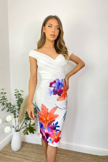 Sistaglam WHITE Loves Jess Wrap Dress