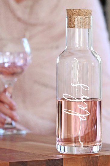 Personalised Script Corked Glass Decanter by Oh So Cherished