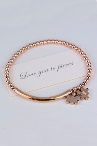 Personalised Love You To Pieces Bracelet by Oh So Cherished