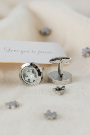 Personalised Love You To Pieces Cufflinks by Oh So Cherished