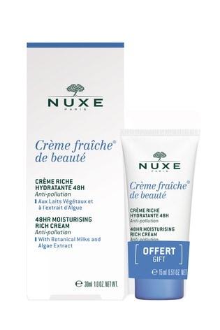 Nuxe Crème Fraîche® de Beauté 48HR Moisturising Rich Cream 30ml With Free 15ml Mini