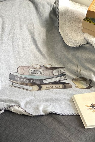 Personalised Reading Blanket by Solesmith