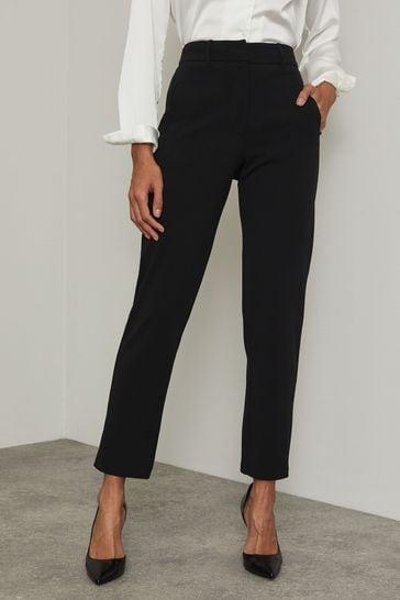 Lipsy Black Regular Smart Tapered Trouser