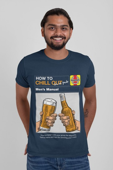 All + Every Blue How To Chill Out In A Pub Men's T-Shirt