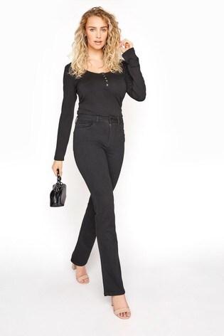 Long Tall Sally Black Indigo Ultra Stretch Bootcut Jeans
