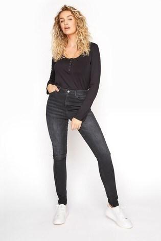Long Tall Sally Black Indigo Ultra Stretch Skinny Jeans