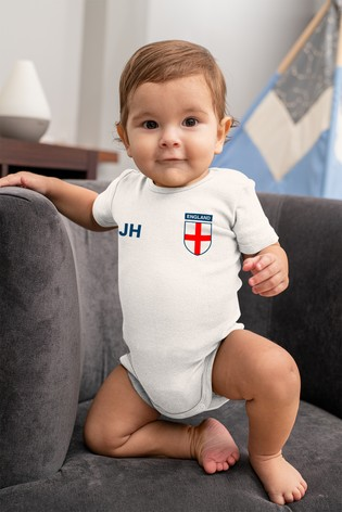 Personalised England Football Supporter Babygrow by Instajunction