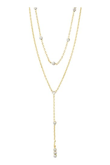 PILGRIM Gold Plated Layered Kamari Necklace