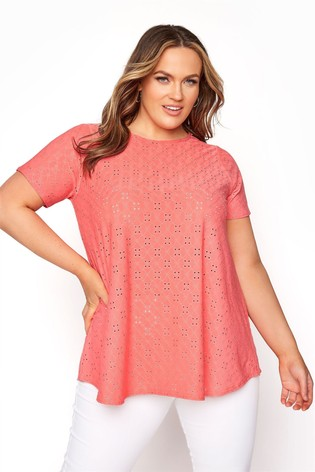 Yours Orange Anglaise Swing Top