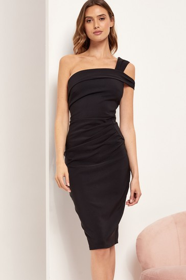 Lipsy Black One Shoulder Bodycon Dress