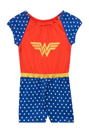 Character Blue and Red DC Comics Kids Wonder Woman Playsuit