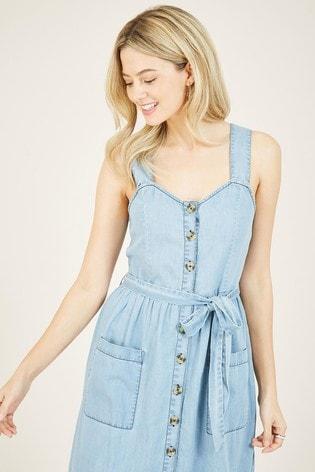 Yumi Blue Denim Vanasia Shirt Dress