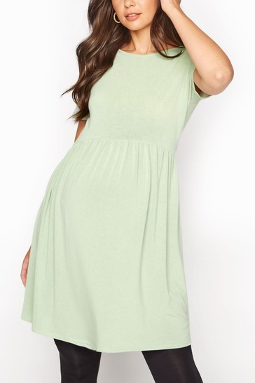 Long Tall Sally Green Fine Knit Smock Top
