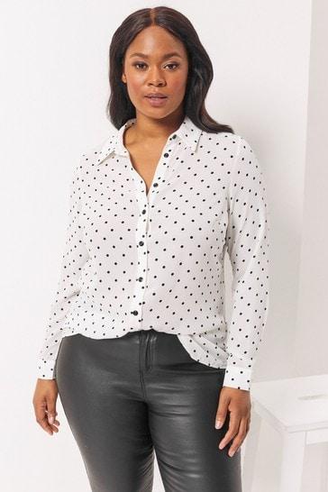Lipsy Mono Check Curve Curve Oversized Shirt