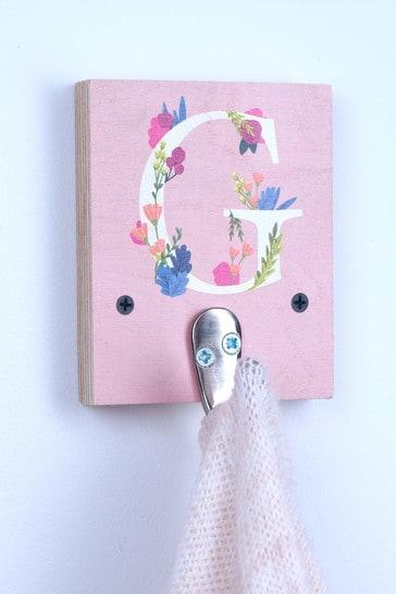 Personalised Floral Initial Key Hook by Oakdene Designs