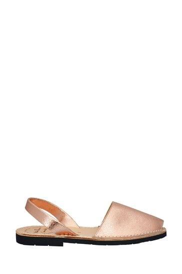 Palmaira Sandals Rose Gold Flat Sandals
